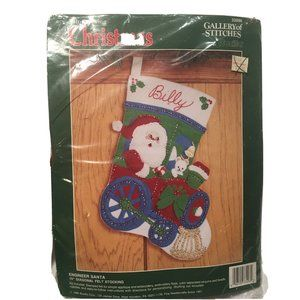 Bucilla  Felt Christmas Stocking Train Engine Kit